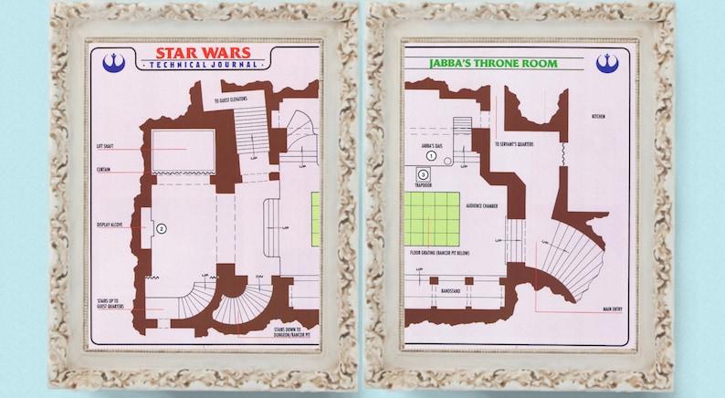 Strona Star Wars 2 Strona Jabby Projekt Rysunek Techniczny