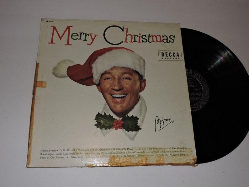 Bing Crosby Merry Christmas.Bing Crosby Merry Christmas Record Album 12 Vintage Vinyl Record