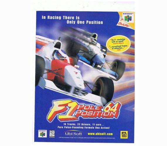F1 Pole Posicion N64 1997 Vintage Nintendo 64 Carreras Juego Etsy