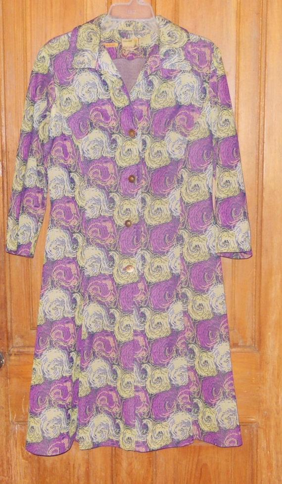 Vintage 1960s Mod Psychedelic Dress Retro