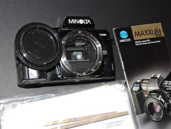 Vintage 1984 MINOLTA 7000 Camera Body With Manual