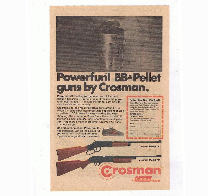 1978 Crossman (Coleman) BB & Pellet Guns Original Vintage Toy Paper  Advertisement
