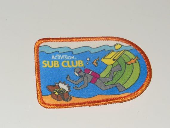 Vintage Activision Patch Sub Club Seaquest Video G