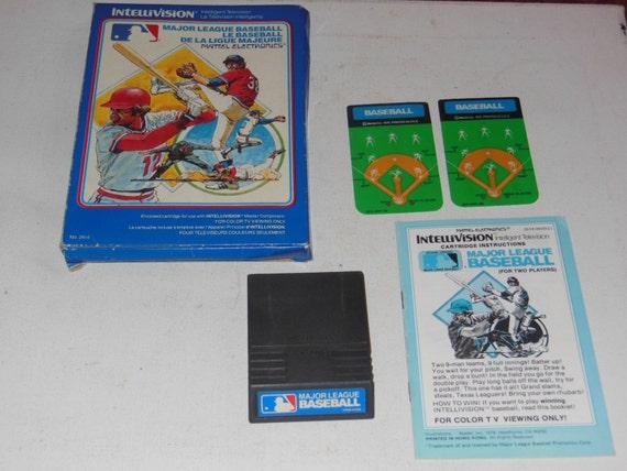 1979 Major League Baseball Intellivision vidéo jeu complet