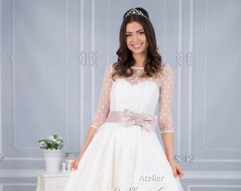 Vintage Wedding dress Petticoat look Jolina