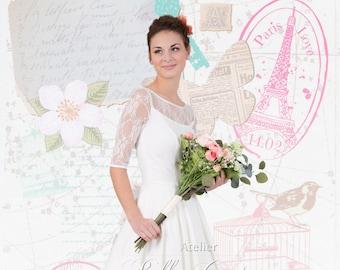 "Romantic vintage wedding Dress ""Jule"""