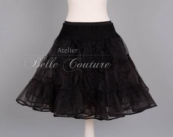 50s petticoat Underskirt 2lagig Black-Medium volume