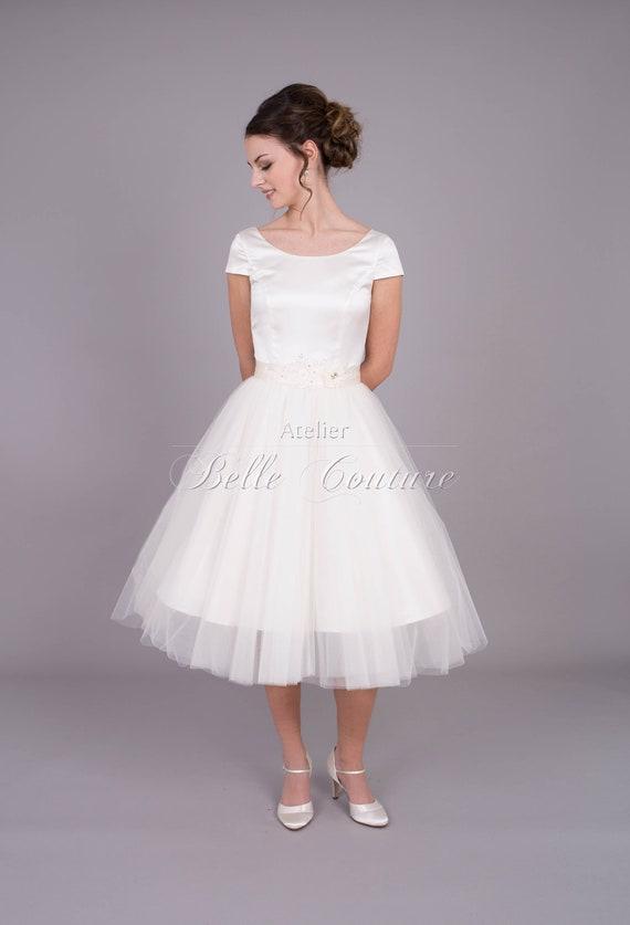 Tüllbrautkleid im 50er Jahre Stil