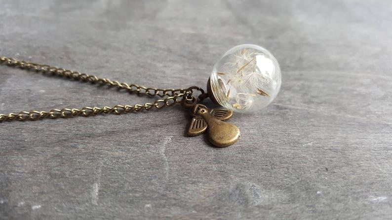 Dandelion Necklace  Dreams come truebronze