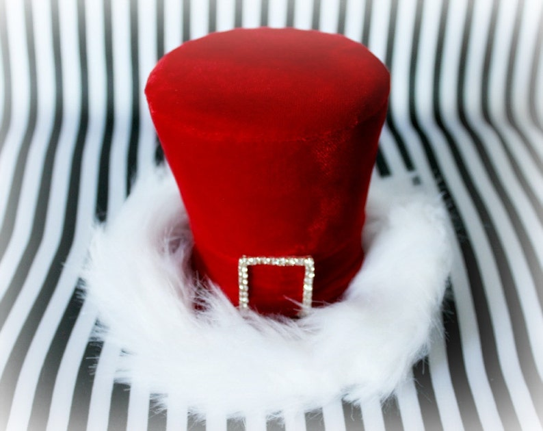 dc922307c9 Holiday Hat Christmas Hat Holiday Party Hat Red Mini Top