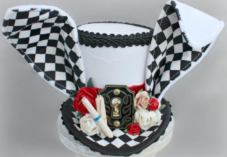 White Rabbit Mini Top Hat Costume Fascinator