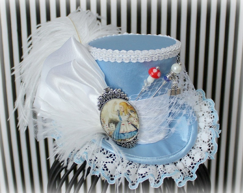 ca05d7f71cf Alice Mini Top Hat Alice in Wonderland Mad Hatter Hat