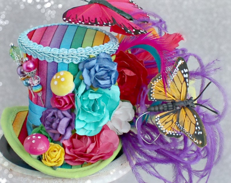 Rainbow Mini Top Hat Gay Pride Flag