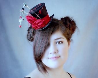 Chinese Hat, Chinese Hair Accessories, Chinese Mini Top Hat, Chinese Costume, Chinese Headdress, Chinese Hair Stick, Chinese Hair, Black Hat