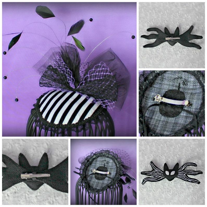Bow Tie Headpiece Cocktail Hat,Tea Party Hat Burlesque Fascinator Bat Teardrop Fascinator Skeleton  Fascinator Hat Wedding Fascinator