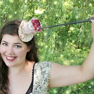 Fan Wear Hat Blue Black Grey Mini Top Hat Magical Fascinator Hat Wizard Mini Top Hat Women Top Hat Wizarding School Hat Tea Party Hat
