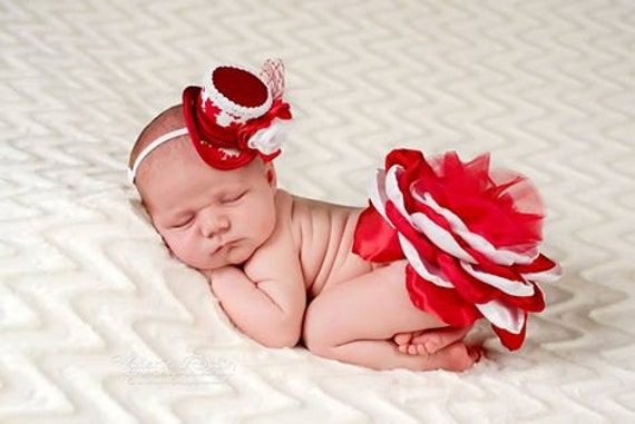 Canada day baby photo prop newborn photo prop mini top hat