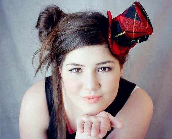 Scottish Mini Top Hat Scottish Wedding Tartan Fabric  81fe3ee8832