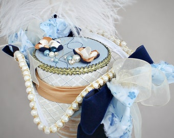 Victorian Mini Tricorn Hat, Marie Antoinette Mini Tricorn Hat, Tricorn Ship Hat, Women Mini Tricorn Hat, Pirate Tricorn Hat, Fascinator