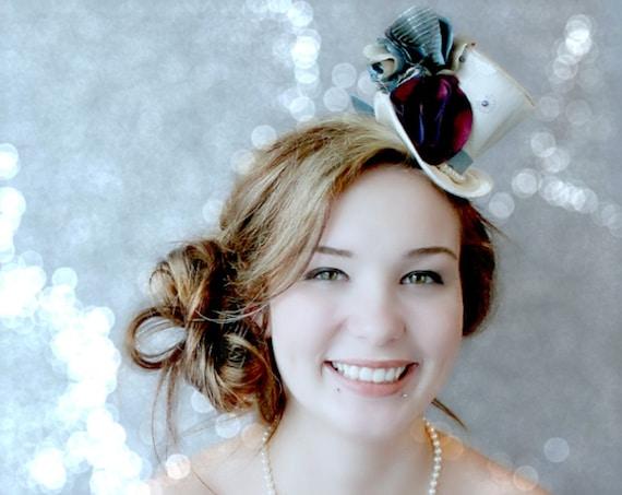 Mini Top Hat Victorian Mini Top Hat Fascinator Wedding  40a5b8d6ab1