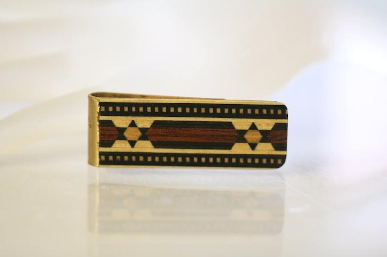 Vintage Southwestern Tie Bar Money Clip  MEN/'S GIFT Vintage Menswear Accountant Broker gift mens Math Teach