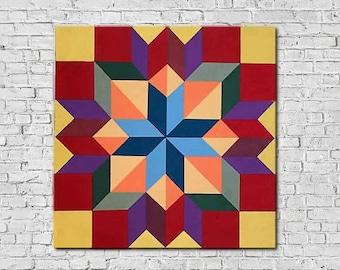 Housewarming, Wood Barn Quilt, Quilt Wall Art, Quilt Wall Hanging, Wood Wall Art, Barn Quilt Patterns, Wood Quilt, Wood Quilt Block