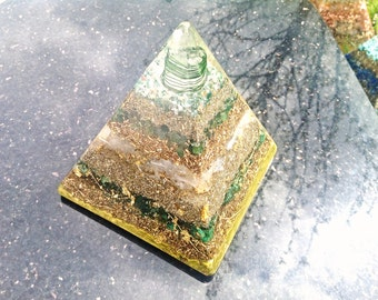 Tall Orgone Orgonite Pyramid ( X Large) - Ground/Connect To Mother Earth- Free Worldwide Shipping!
