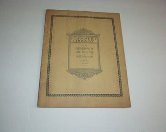 Antique 1895 SCHIMER'S LIBRARY Vol. 316 DUVERNOY The School of Mechanism Or. 120 Complete (Klauser) Sheet Music 35-page Book- Extremely Rare