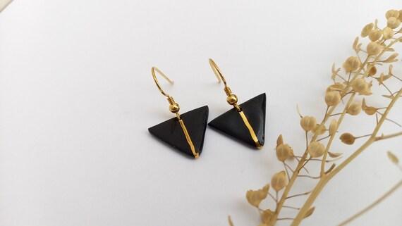 Black  golden earrings