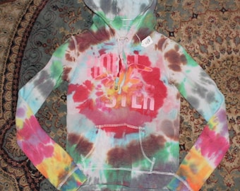 e31c812b60 Brain Washed 70 s tie dye pull over hoodie adult small