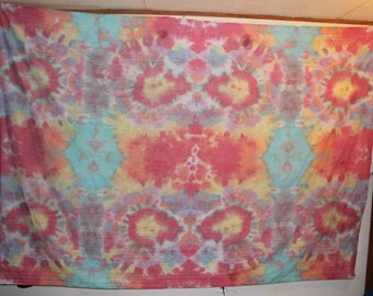 158314945f Brain Washed 70 s tie dye tapestry large owl