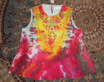 1f98339bf6 Brain Washed 70 s tie dye tank top adult xxL (20)