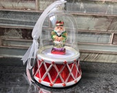 Mr. Christmas nutcracker music box ornament, vintage Mr. Christmas music box, vintage Mr. Christmas globe ornament, nutcracker music box,
