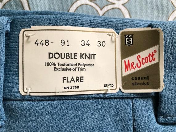 Vintage Mr. Scott knit flare men's trousers, new … - image 3