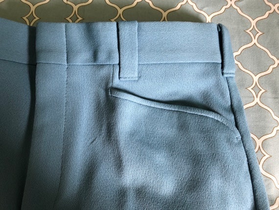 Vintage Mr. Scott knit flare men's trousers, new … - image 7