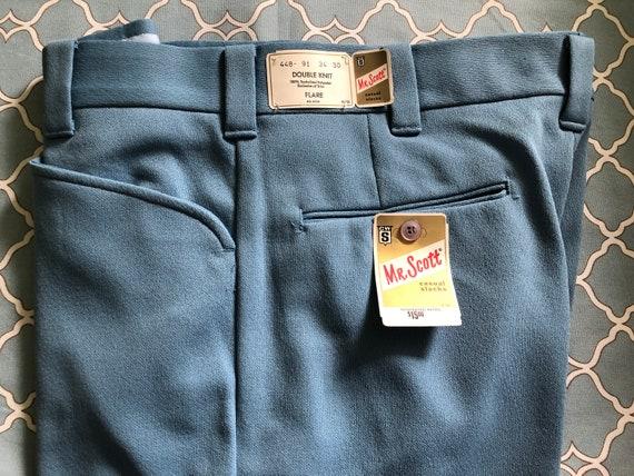 Vintage Mr. Scott knit flare men's trousers, new … - image 2