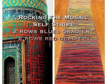 Rocking the Mosaic  Self Stripe Gradient Sock Yarn