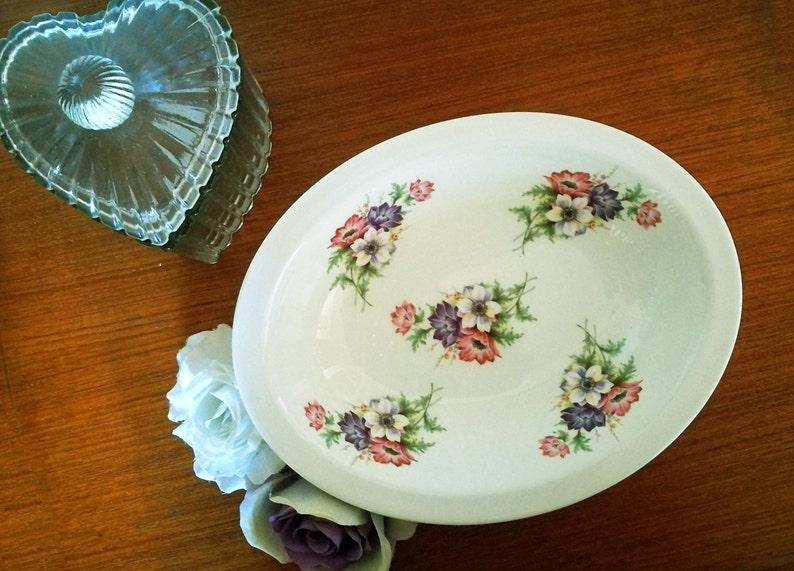 Large Fine bone china bowl pretty floral print china bowl Large bone china serving dish English bone china dish Floral bone china dish
