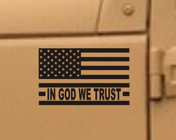 In God We Trust flag decal, In God We Trust flag sticker, American flag decal, American flag sticker, USA flag In God We Trust flag, USA