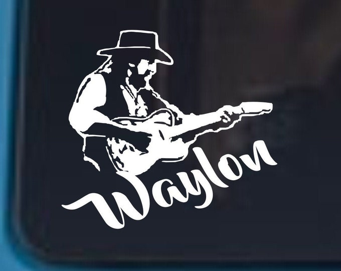 Waylon vinyl decal, Waylon sticker, Waylon decal, Country music decals, country music stickers, classic country decals, outlaw country music