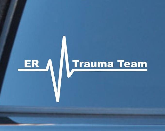 ER Trauma Team vinyl decal, Trauma team sticker, ER Trauma team car decal, ER trauma team, er trauma response decal, emergency trauma