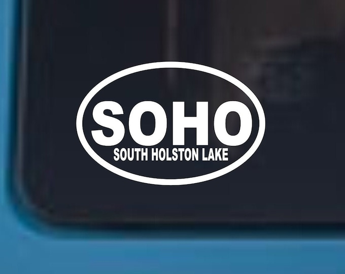 SOHO vinyl decal, South Holston Lake decal, South Holston lake sticker, SOHO sticker, soho lake decal, Bristol Va tn vinyl decal