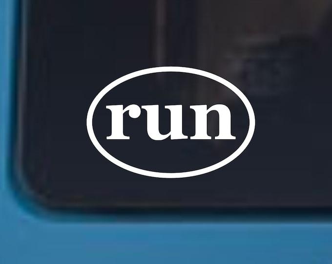 run vinyl decal, runner decal, runner sticker, run vinyl sticker, running decal, running sticker, run, marathon decal, marathon sticker
