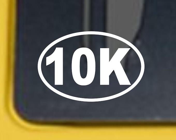 10K Marathon vinyl decal, 10k vinyl sticker, 10k marathon sticker, 10k runner decal, Marathon vinyl decal, Runners 10k sticker, runner decal