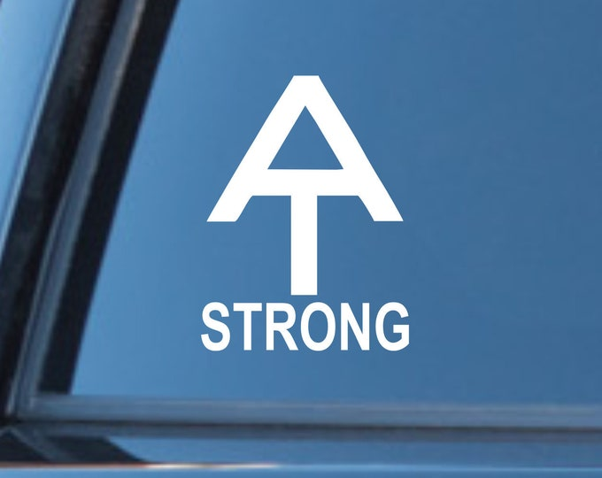 AT Strong vinyl decal, AT Strong sticker, AT strong decal, Appalachian Trail strong sticker, hiker decal hiker sticker, hiking decal, hike