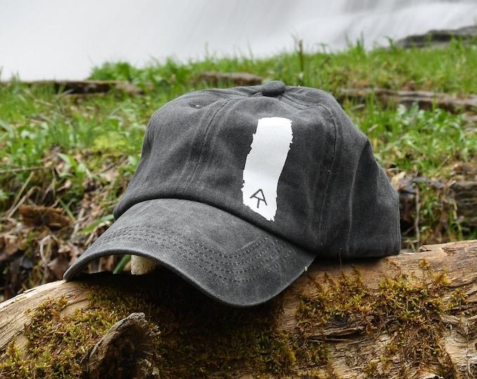 Appalachian Trail printed Blaze Marker cap, Appalachian Trail white blaze cap, white blaze cap, Appalachian Trail hat, hiker blaze marker