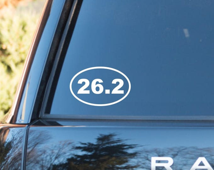 26.2 Marathon decal, 26.2 Marathon sticker, 26.2 vinyl decal, 26.2 vinyl sticker, 26.2 runner decal, marathon decal, marathon car sticker