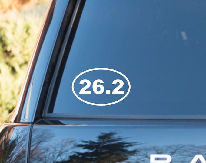 26.2 Marathon decal, 26.2 Marathon sticker, 26.2 vinyl decal, 26.2 vinyl sticker, 26.2 runner decal, marathon decal, marathon car sticker