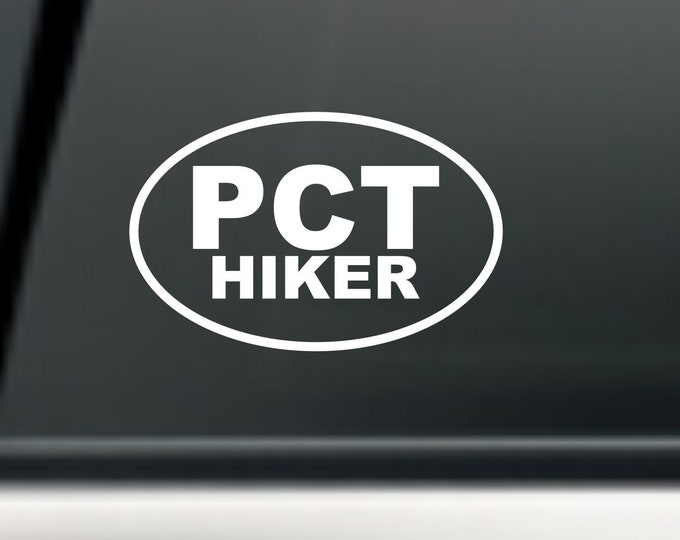 PCT Hiker decal, PCT Hiker sticker, PCT decal, Pacific Crest Trail decal, Hiker sticker, Hiker decal, pct hiker gear, hiker gear, hiker
