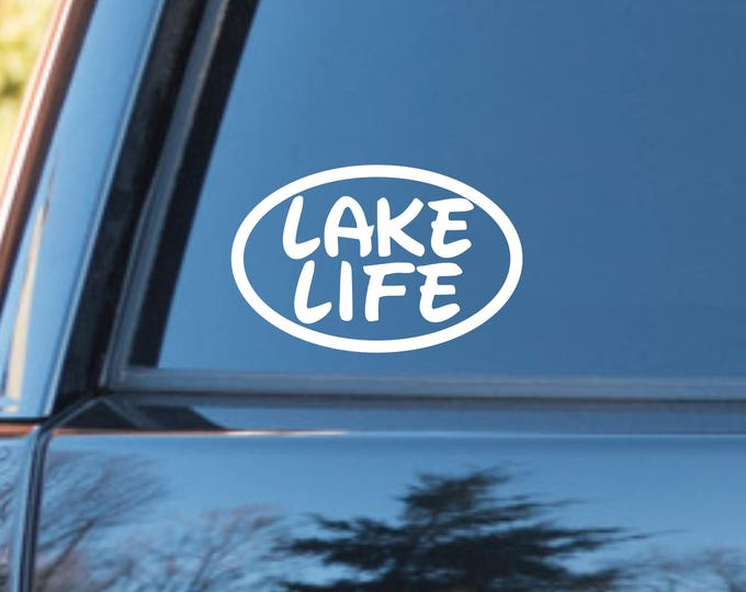 Lake Life vinyl decal, lake life sticker, lake life decal, lake life car decal, lake decal, lake sticker, lake life, lake lovers decal, lake